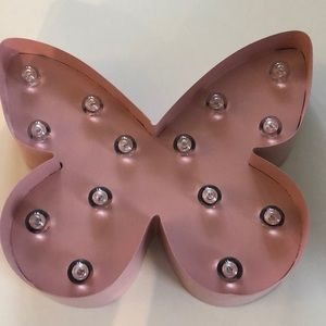 Zara Home Pink Butterfly Lamp